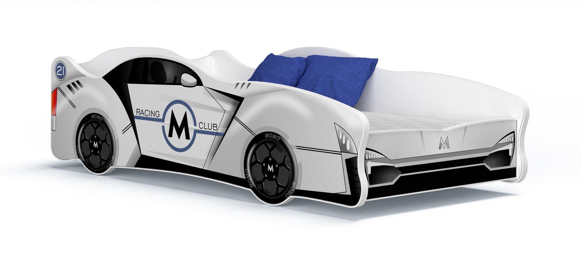 meubles lit voiture pour enfant matelas taille 160x80. Black Bedroom Furniture Sets. Home Design Ideas