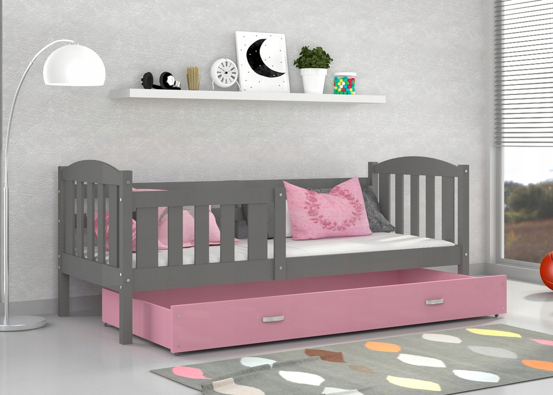 Details about Single Bed JACOB for Children Toddler Kids + Mattress +  Drawer + FREE DELIVERY